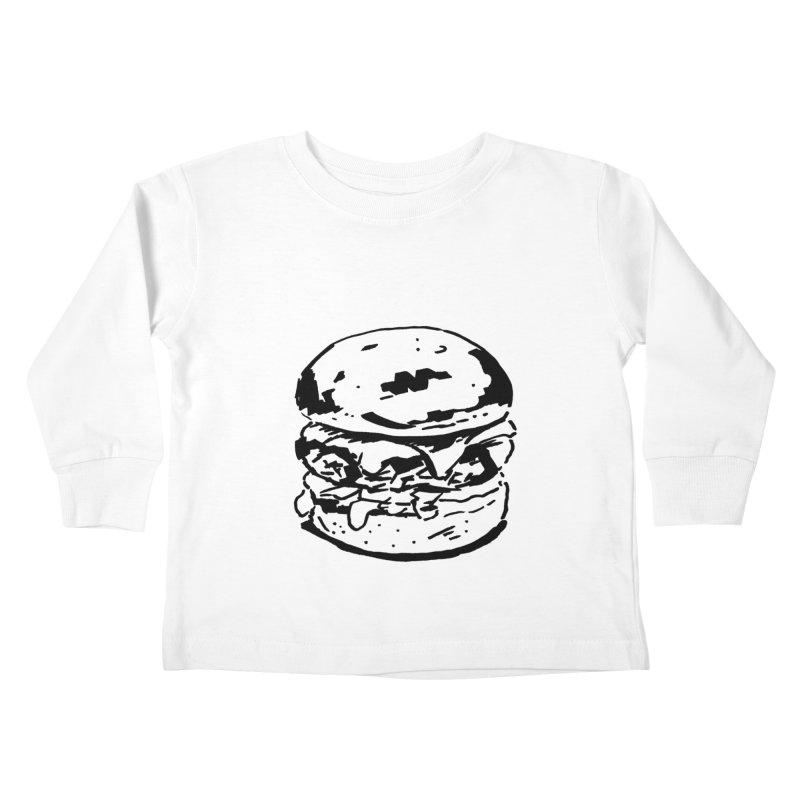 Burger Kids Toddler Longsleeve T-Shirt by Donal Mangan's Artist Shop
