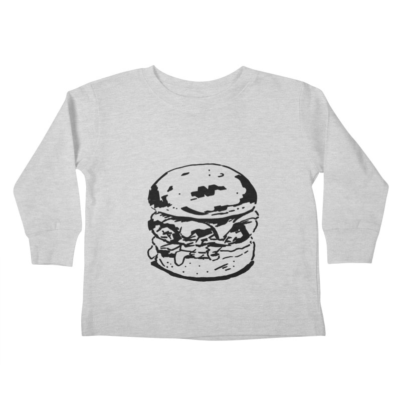 Burger Kids Toddler Longsleeve T-Shirt by Donal Mangan's Artist Shop