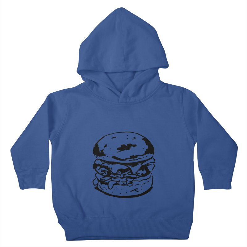 Burger Kids Toddler Pullover Hoody by Donal Mangan's Artist Shop