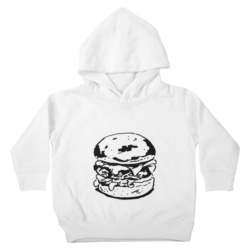 Burger Kids Toddler Pullover Hoody by Donal Mangan's Artist Shop