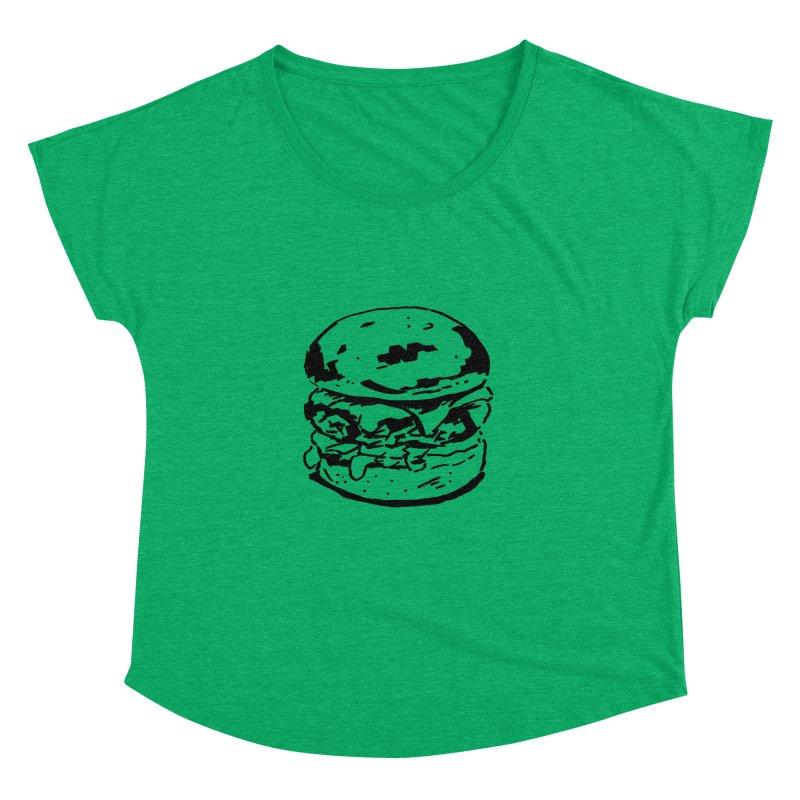 Burger Women's Dolman by Donal Mangan's Artist Shop