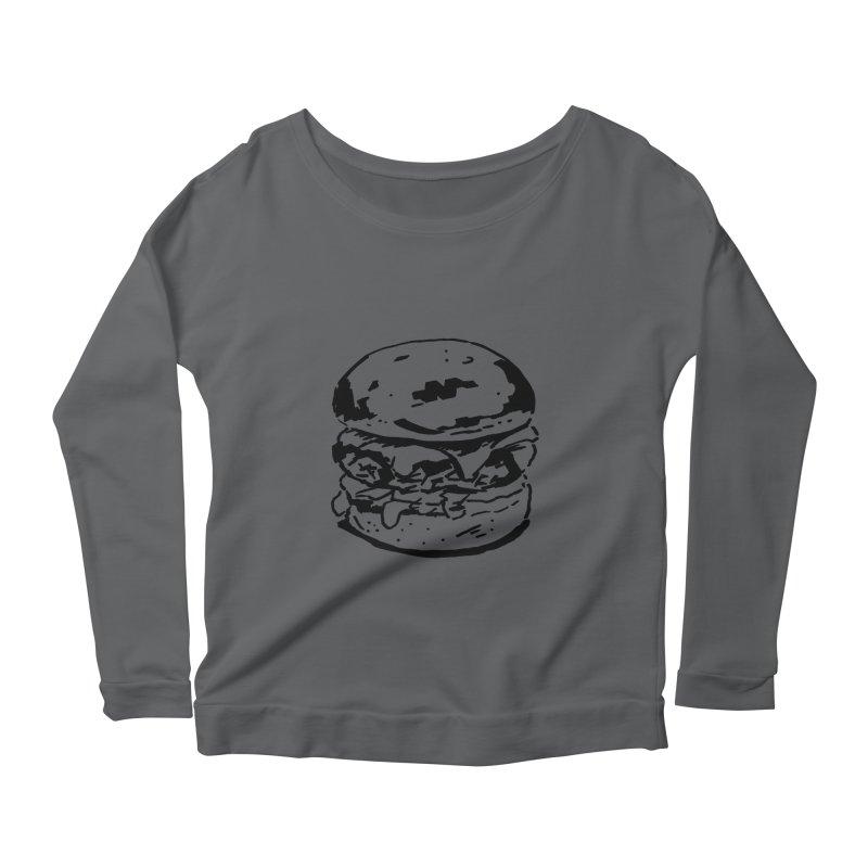 Burger Women's Scoop Neck Longsleeve T-Shirt by Donal Mangan's Artist Shop
