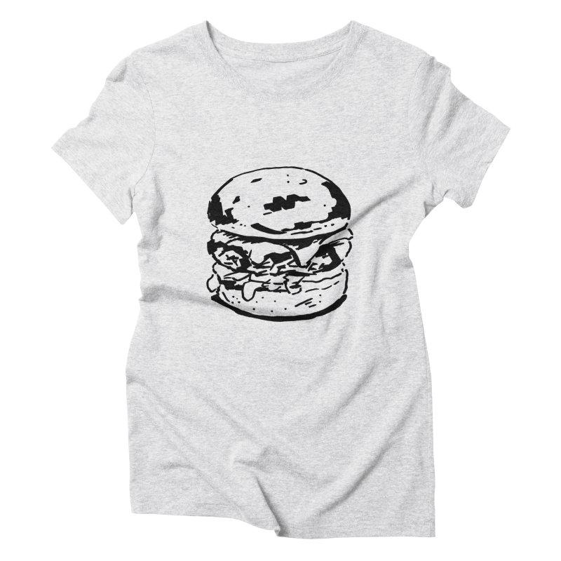 Burger Women's Triblend T-Shirt by Donal Mangan's Artist Shop