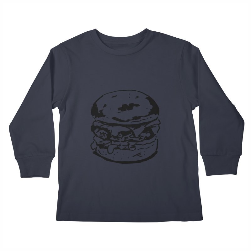 Burger Kids Longsleeve T-Shirt by Donal Mangan's Artist Shop
