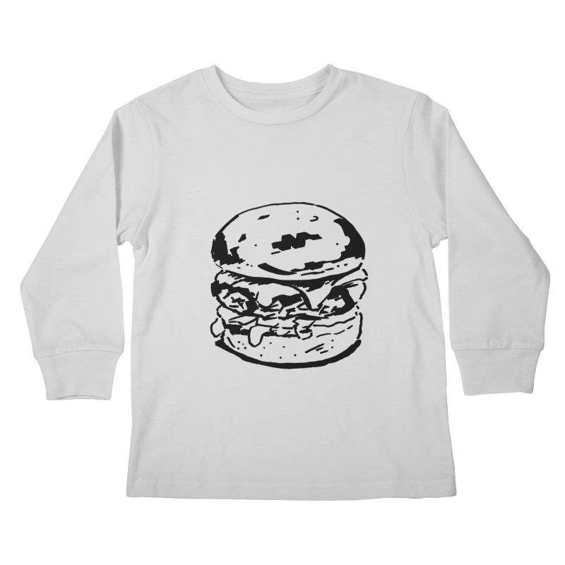 Burger Kids Longsleeve T-Shirt by Donal Mangan's Artist Shop