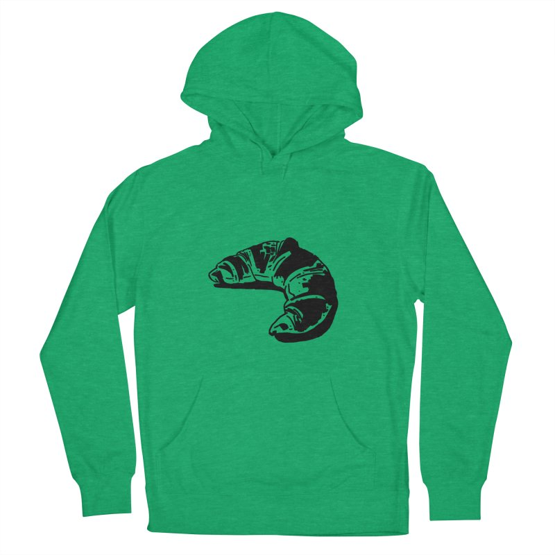 Croissant Women's French Terry Pullover Hoody by Donal Mangan's Artist Shop