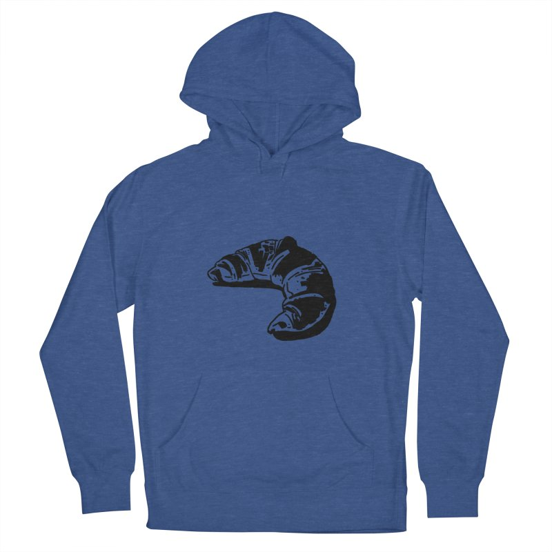 Croissant Men's French Terry Pullover Hoody by Donal Mangan's Artist Shop
