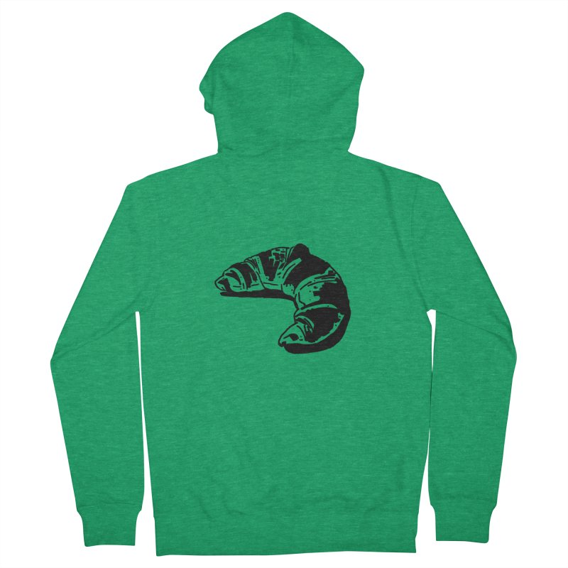Croissant Women's Zip-Up Hoody by Donal Mangan's Artist Shop