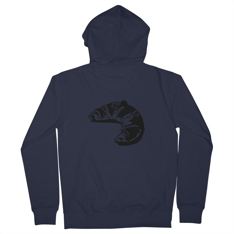 Croissant Men's French Terry Zip-Up Hoody by Donal Mangan's Artist Shop