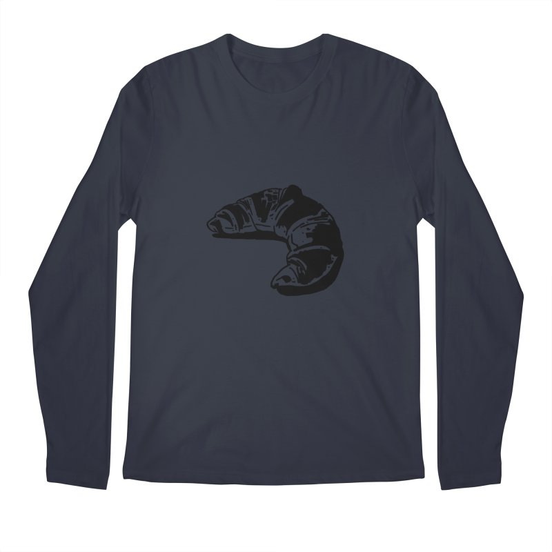 Croissant Men's Regular Longsleeve T-Shirt by Donal Mangan's Artist Shop