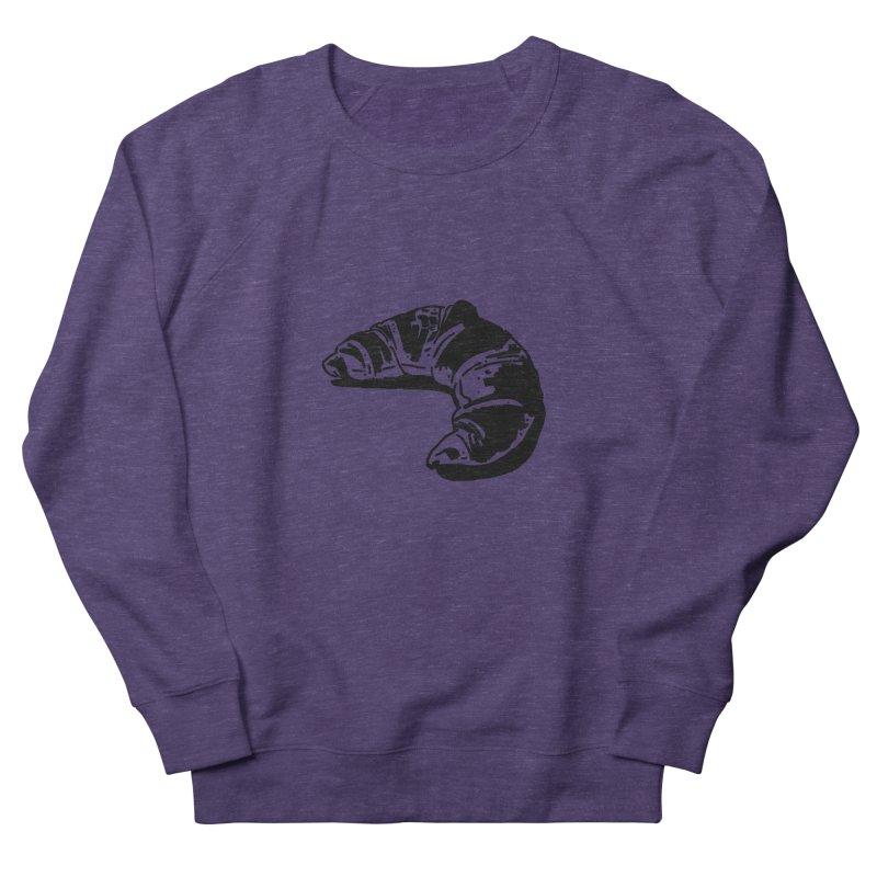 Croissant Women's French Terry Sweatshirt by Donal Mangan's Artist Shop