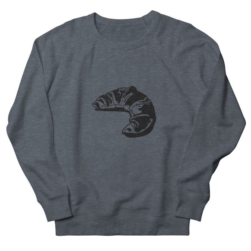 Croissant Men's French Terry Sweatshirt by Donal Mangan's Artist Shop