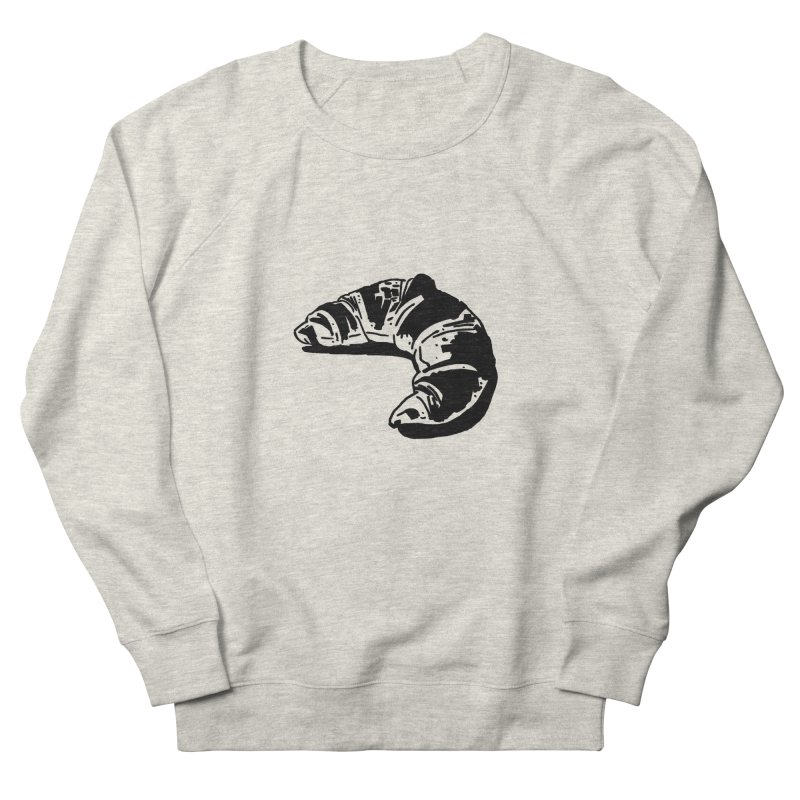 Croissant Men's French Terry Sweatshirt by Donal Mangan's Artist Shop