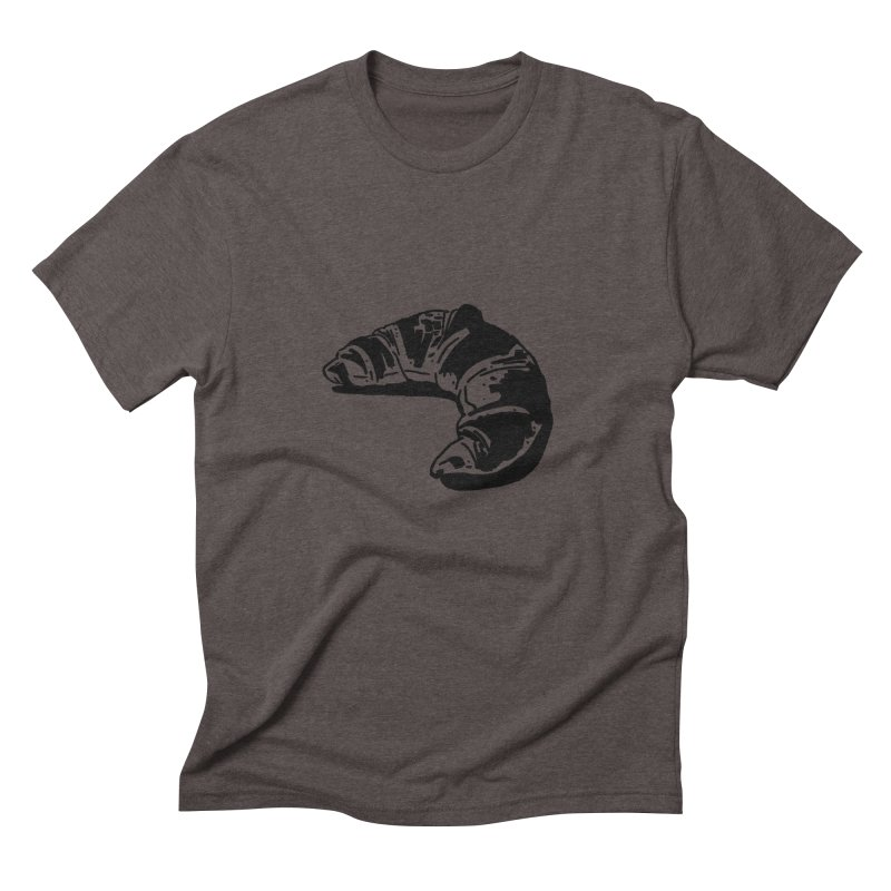 Croissant Men's Triblend T-Shirt by Donal Mangan's Artist Shop