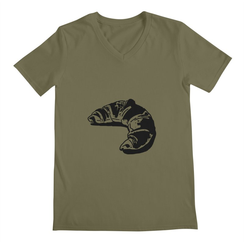 Croissant Men's V-Neck by Donal Mangan's Artist Shop