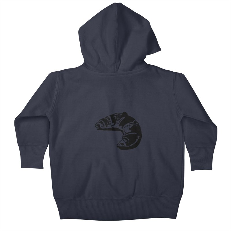 Croissant Kids Baby Zip-Up Hoody by Donal Mangan's Artist Shop