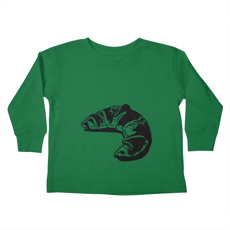 Croissant Kids Toddler Longsleeve T-Shirt by Donal Mangan's Artist Shop