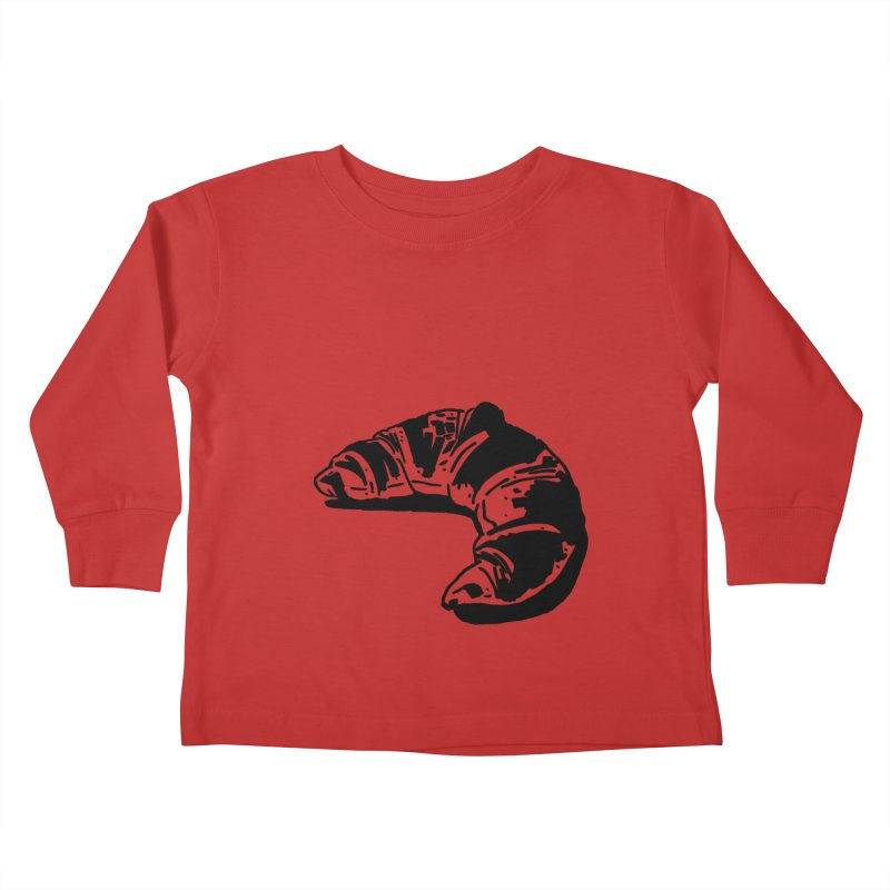 Croissant Kids Toddler Longsleeve T-Shirt by Donal Mangan's Artist Shop