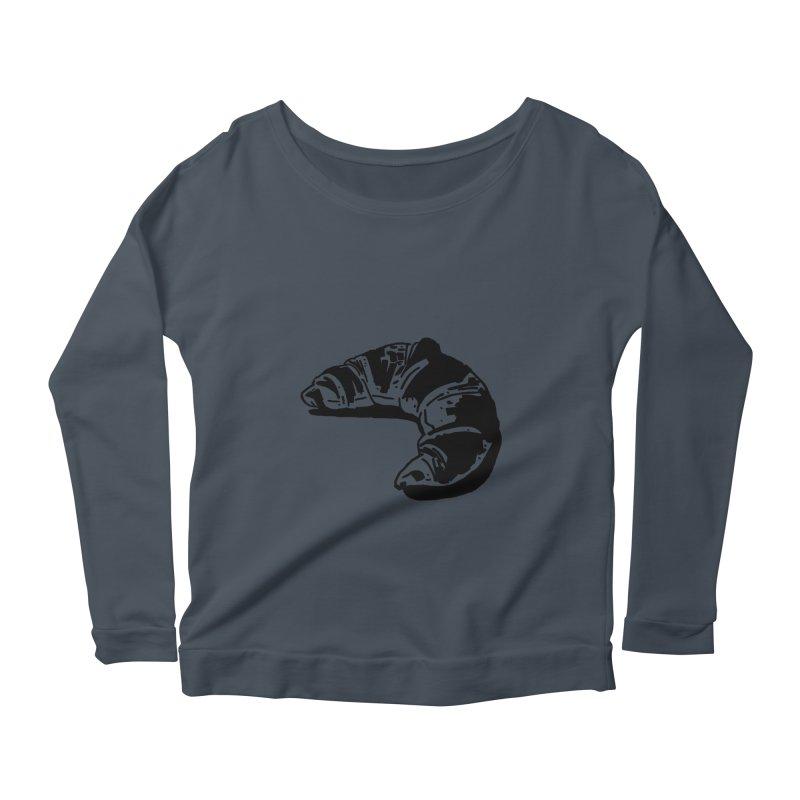 Croissant Women's Scoop Neck Longsleeve T-Shirt by Donal Mangan's Artist Shop