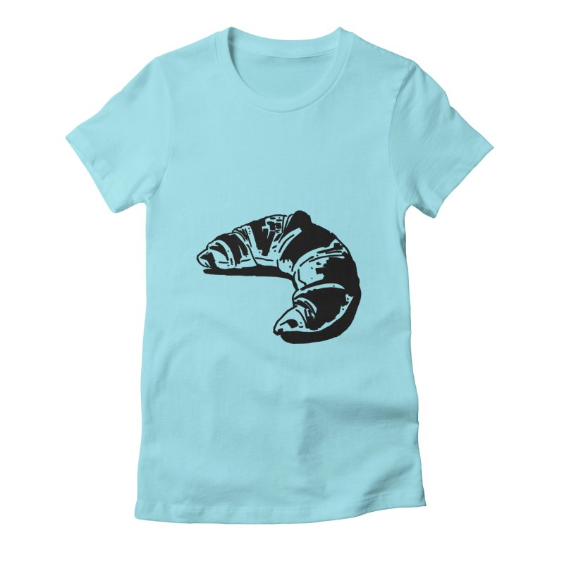 Croissant Women's T-Shirt by Donal Mangan's Artist Shop
