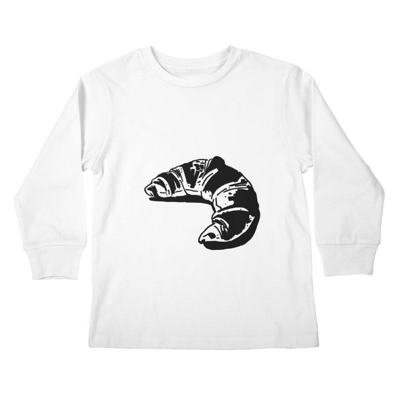 Croissant Kids Longsleeve T-Shirt by Donal Mangan's Artist Shop