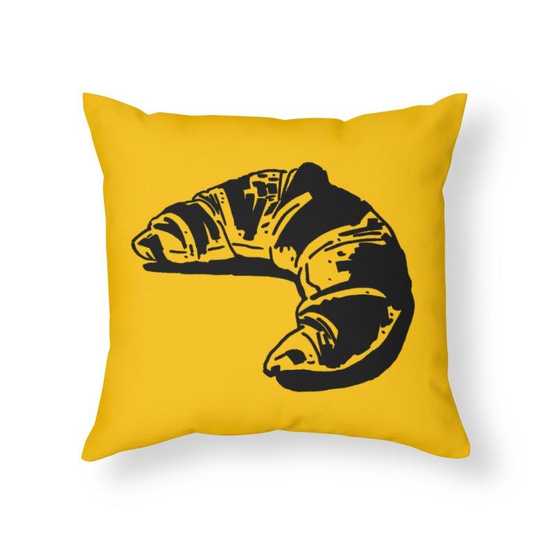 Croissant Home Throw Pillow by Donal Mangan's Artist Shop
