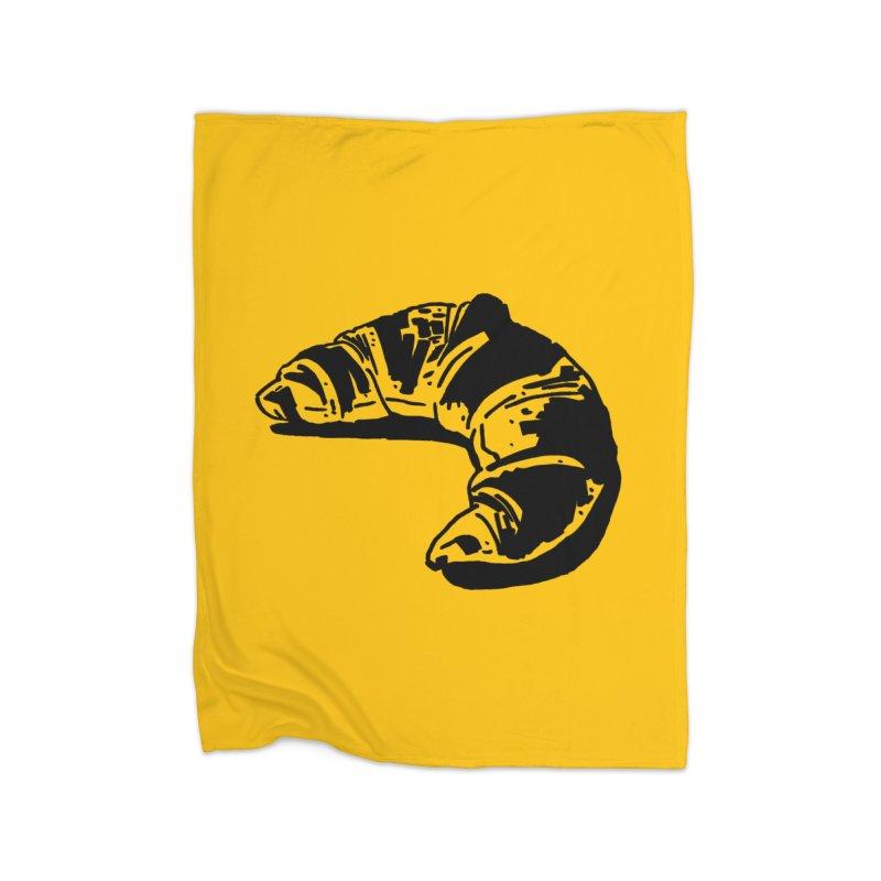 Croissant Home Fleece Blanket Blanket by Donal Mangan's Artist Shop