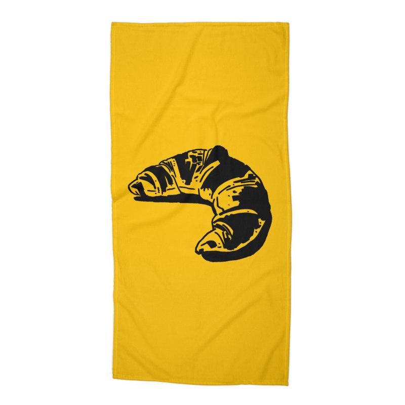 Croissant Accessories Beach Towel by Donal Mangan's Artist Shop