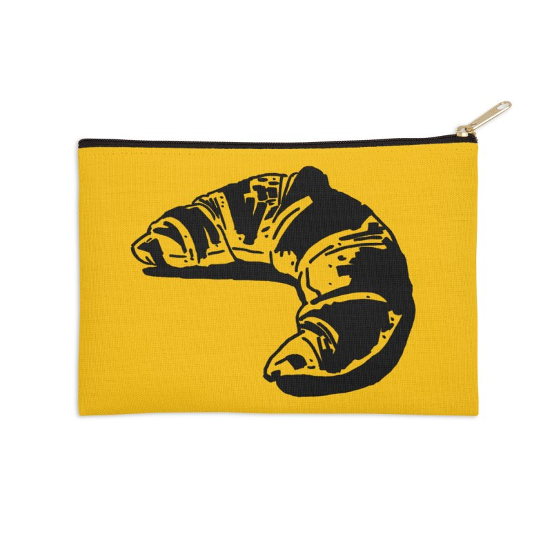 Croissant Accessories Zip Pouch by Donal Mangan's Artist Shop