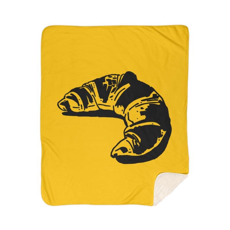 Croissant Home Sherpa Blanket Blanket by Donal Mangan's Artist Shop