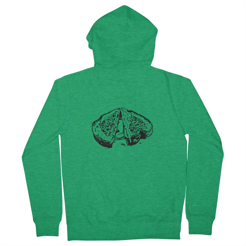 Grilled Cheese Sandwich Women's Zip-Up Hoody by Donal Mangan's Artist Shop