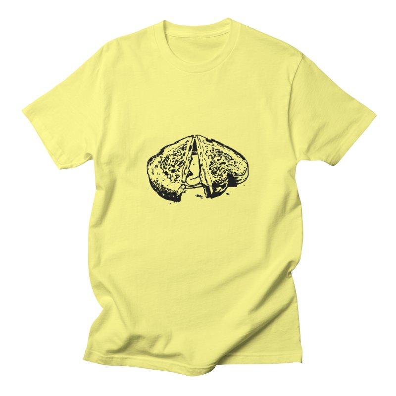 Grilled Cheese Sandwich Women's Regular Unisex T-Shirt by Donal Mangan's Artist Shop