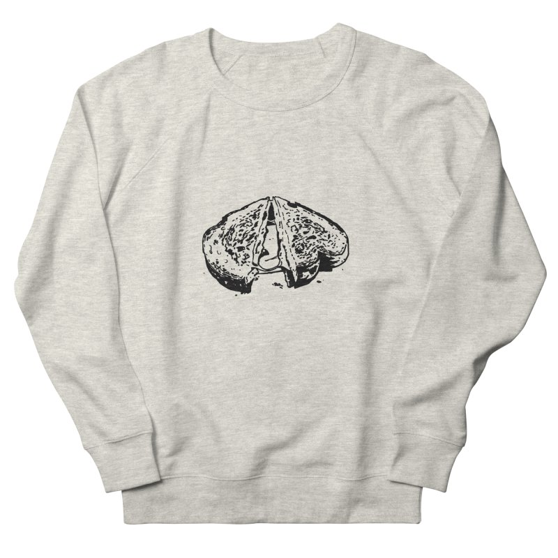 Grilled Cheese Sandwich Men's Sweatshirt by Donal Mangan's Artist Shop