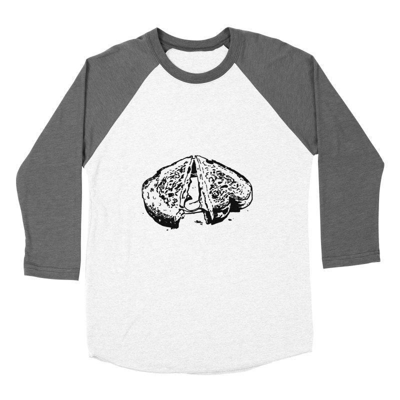 Grilled Cheese Sandwich Women's Baseball Triblend Longsleeve T-Shirt by Donal Mangan's Artist Shop