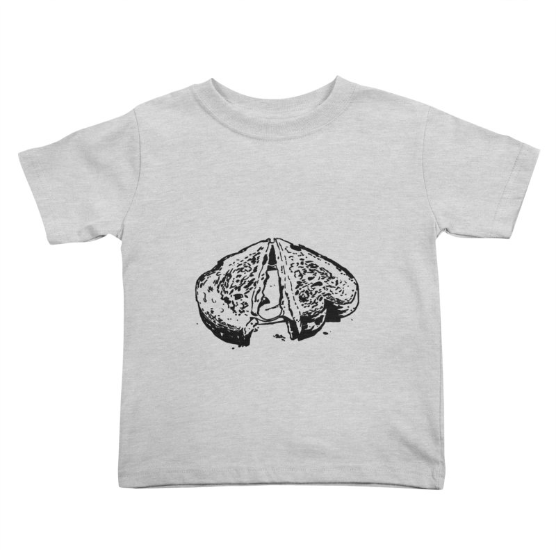 Grilled Cheese Sandwich Kids Toddler T-Shirt by Donal Mangan's Artist Shop