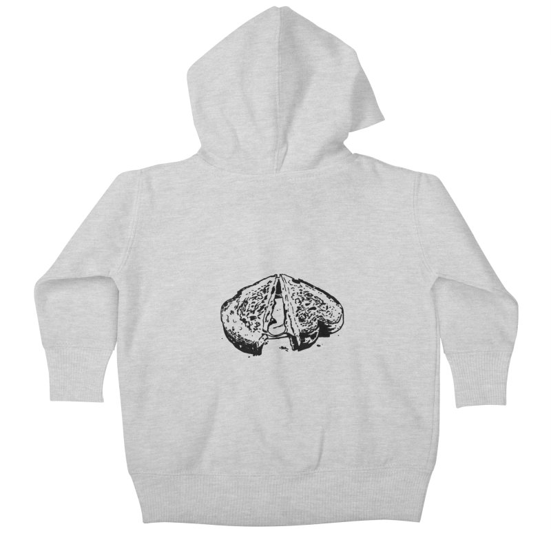 Grilled Cheese Sandwich Kids Baby Zip-Up Hoody by Donal Mangan's Artist Shop