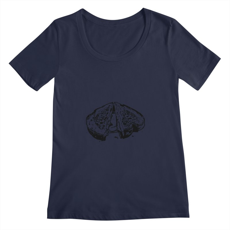 Grilled Cheese Sandwich Women's Scoopneck by Donal Mangan's Artist Shop