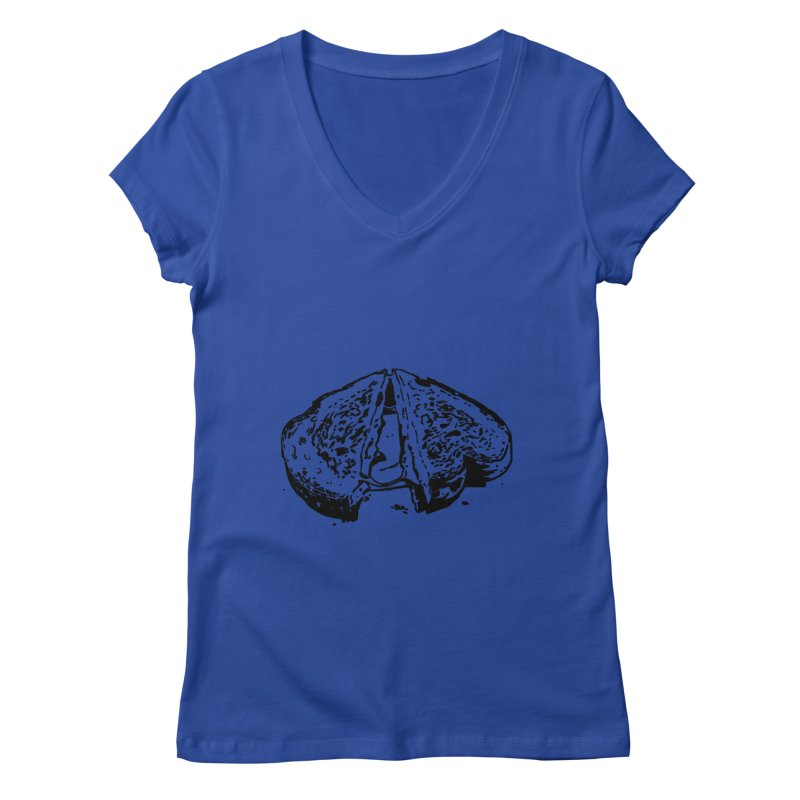 Grilled Cheese Sandwich Women's V-Neck by Donal Mangan's Artist Shop