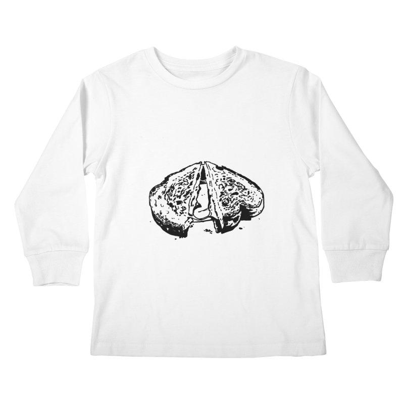Grilled Cheese Sandwich Kids Longsleeve T-Shirt by Donal Mangan's Artist Shop