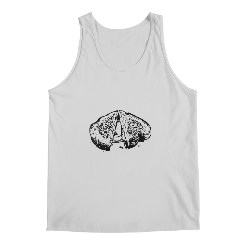 Grilled Cheese Sandwich Men's Tank by Donal Mangan's Artist Shop