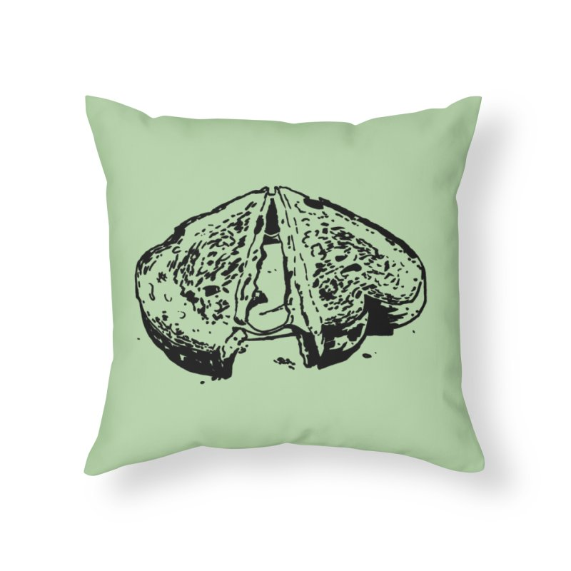 Grilled Cheese Sandwich Home Throw Pillow by Donal Mangan's Artist Shop