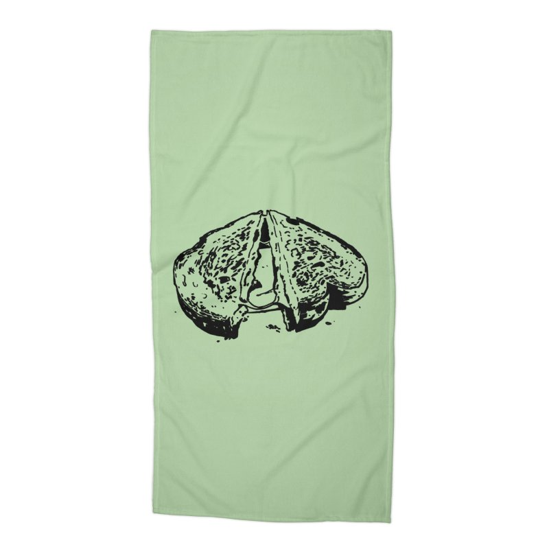 Grilled Cheese Sandwich Accessories Beach Towel by Donal Mangan's Artist Shop