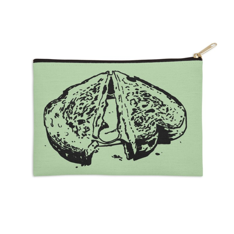 Grilled Cheese Sandwich Accessories Zip Pouch by Donal Mangan's Artist Shop