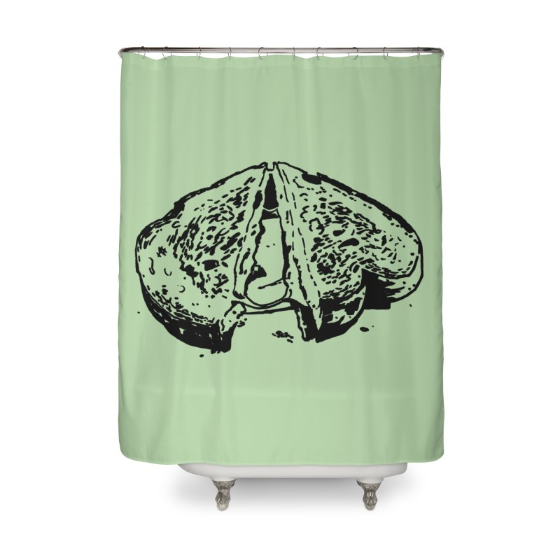 Grilled Cheese Sandwich Home Shower Curtain by Donal Mangan's Artist Shop