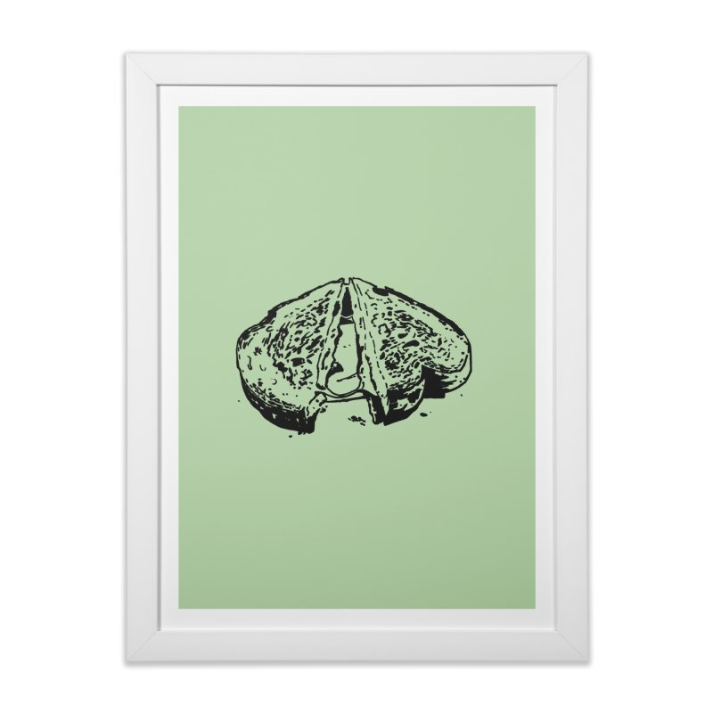 Grilled Cheese Sandwich Home Framed Fine Art Print by Donal Mangan's Artist Shop