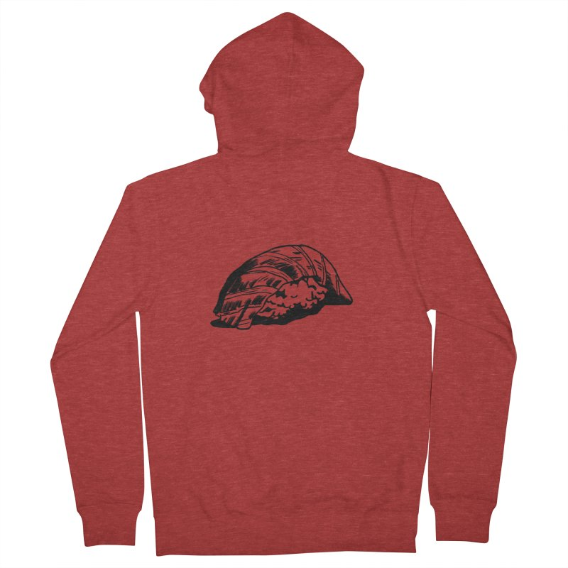 Sushi Men's French Terry Zip-Up Hoody by Donal Mangan's Artist Shop