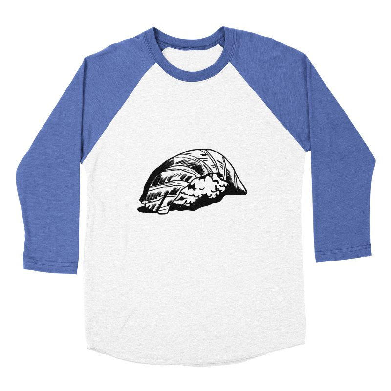 Sushi Women's Baseball Triblend Longsleeve T-Shirt by Donal Mangan's Artist Shop