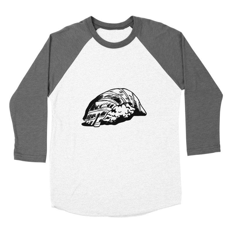 Sushi Men's Baseball Triblend T-Shirt by Donal Mangan's Artist Shop