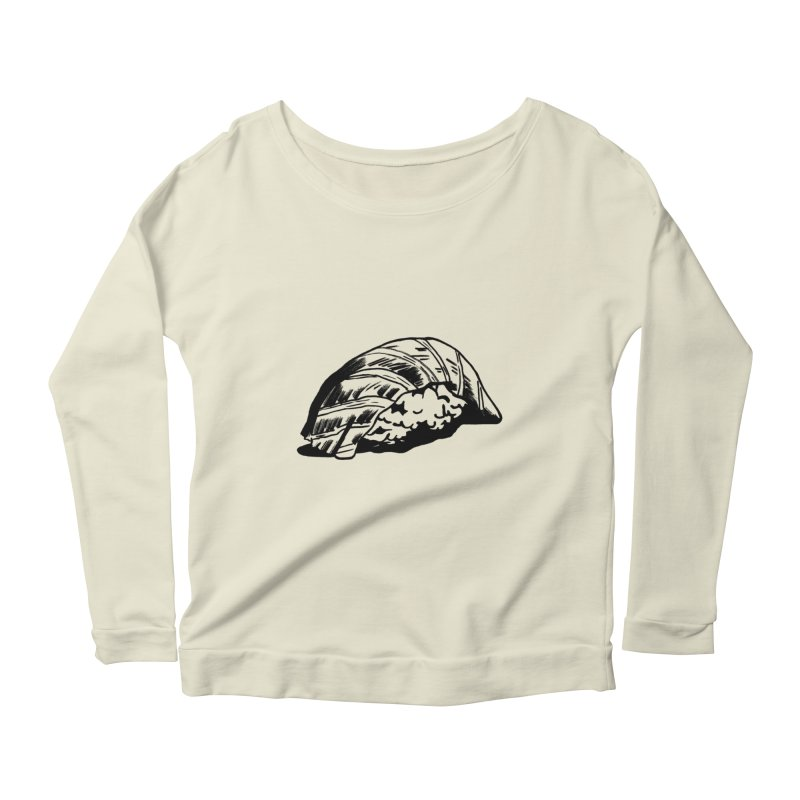 Sushi Women's Scoop Neck Longsleeve T-Shirt by Donal Mangan's Artist Shop