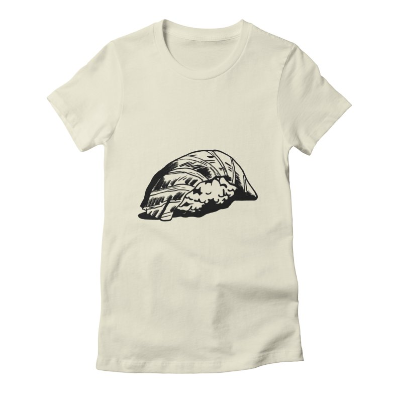 Sushi Women's Fitted T-Shirt by Donal Mangan's Artist Shop